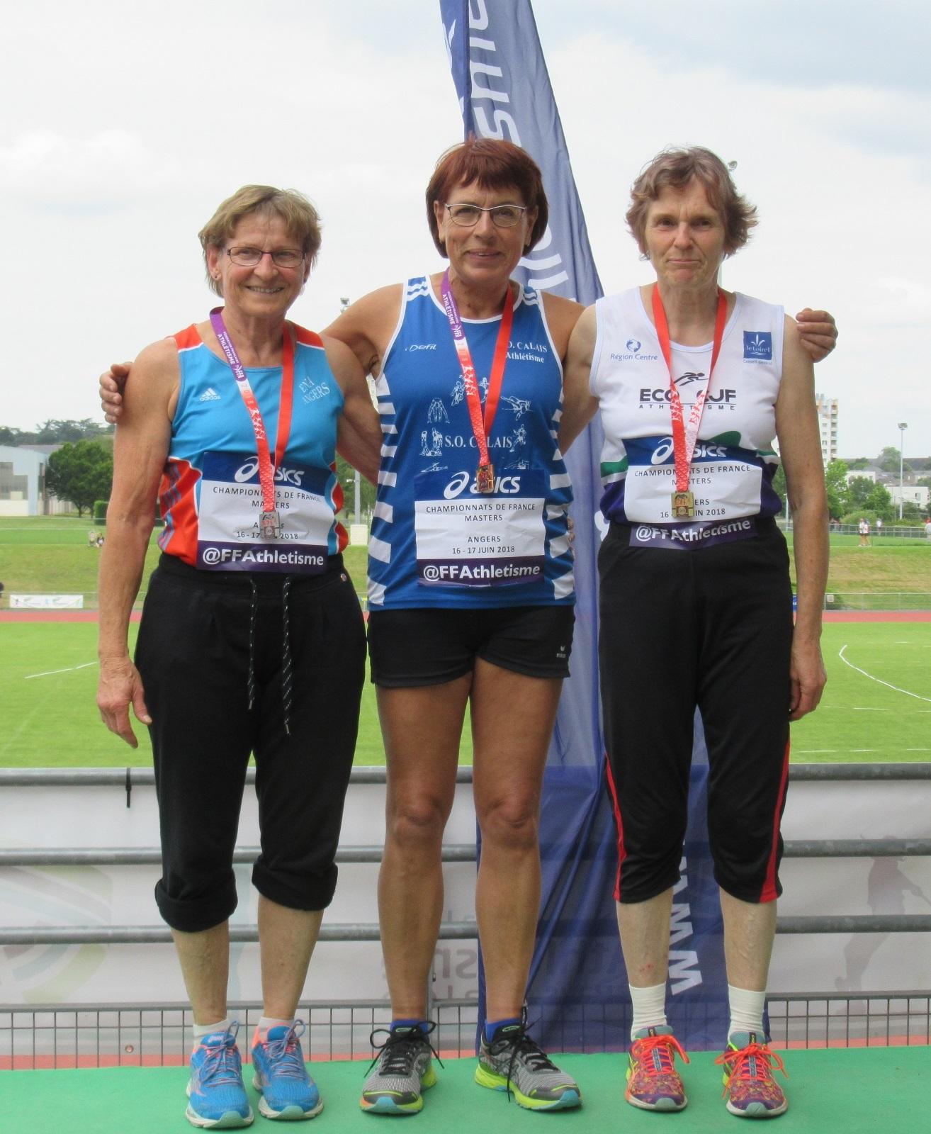 Deux titres nationaux et un record de France pour Eliane Piret