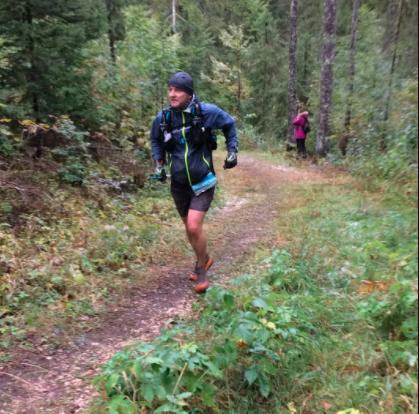 Deux finishers à l'Ultra Trail des montagnes du Jura