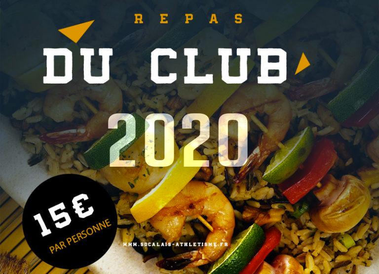 Réservez vos places pour le repas club du samedi 28 mars 2020